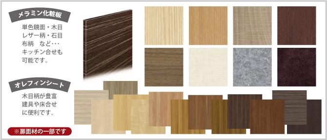 扉表面材の種類