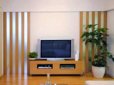 壁面デザインミラー,TVボード【d006】