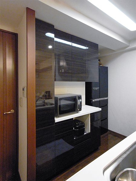 【tk013】食器棚,カップボード扉交換