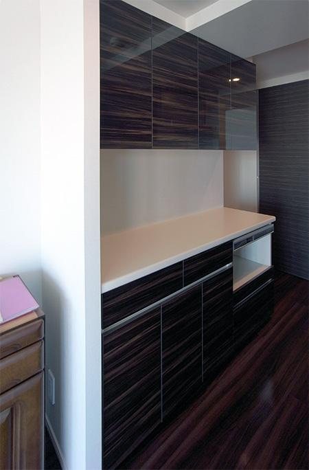 蒸気排出ユニット付き食器棚【s021】