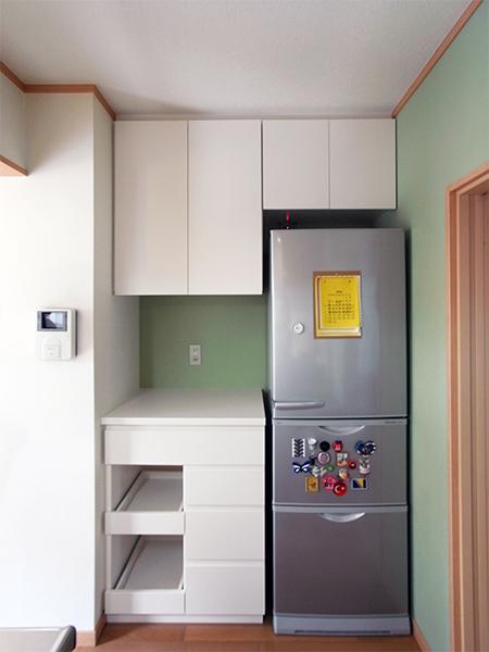 食器棚+冷蔵庫上吊戸棚【s038】
