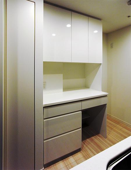 L型カウンター食器棚【s074】