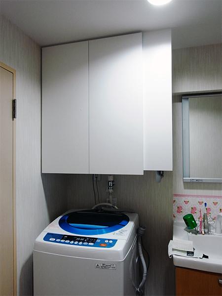 オープン棚付きランドリー吊戸棚【t023】