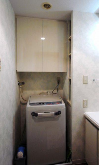 洗濯機上吊り戸棚【t018】