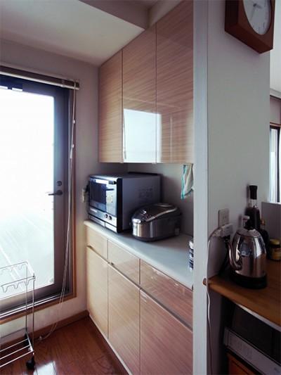 【tk002】食器棚,キッチンボード扉交換