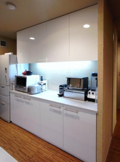 【tk010】食器棚,キッチンボード扉交換