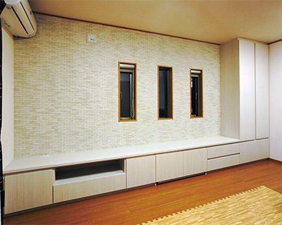 TVボード+リビングボード+クローゼット収納【h027】
