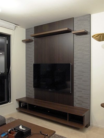 壁掛けTVボード+キャットウォーク【h028】