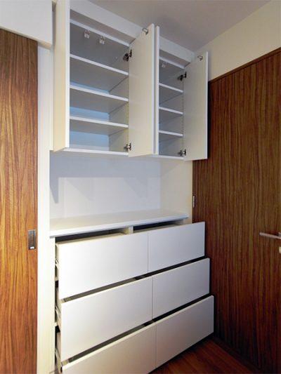 寝室壁面収納【h032】