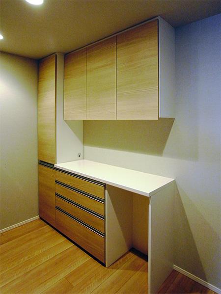 トール収納付き食器棚【s142】