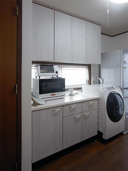 【tk032】食器棚,カップボード扉交換