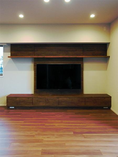 壁面収納,壁掛けTVボード【h043】