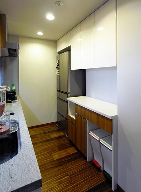 食器棚+冷蔵庫上吊戸棚【s053】