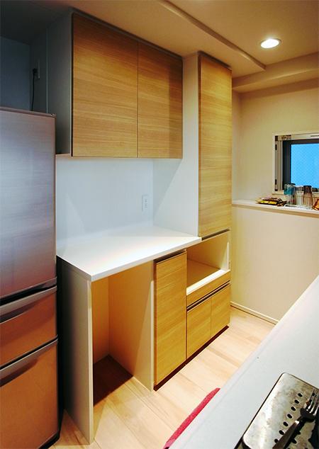 トール収納付き食器棚【s131】