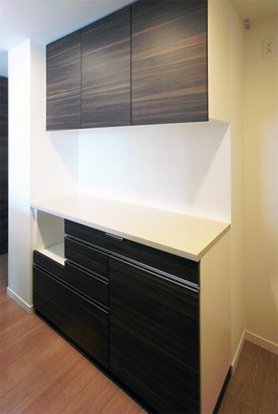 スライドカウンター,引出し式ゴミ箱収納,食器棚【s159】