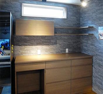 【s163】飾り棚,扉同色天板