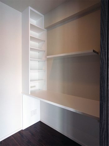 【dk015】壁面本棚付きデスク,飾り棚