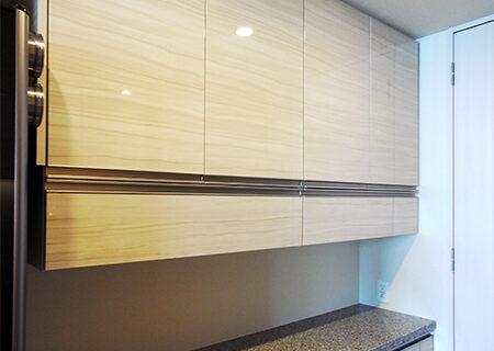【s177】食器棚フラップダウン吊戸棚
